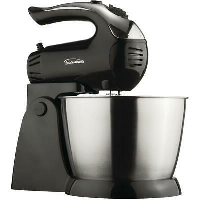 brentwood black stand mixer with steel bowl