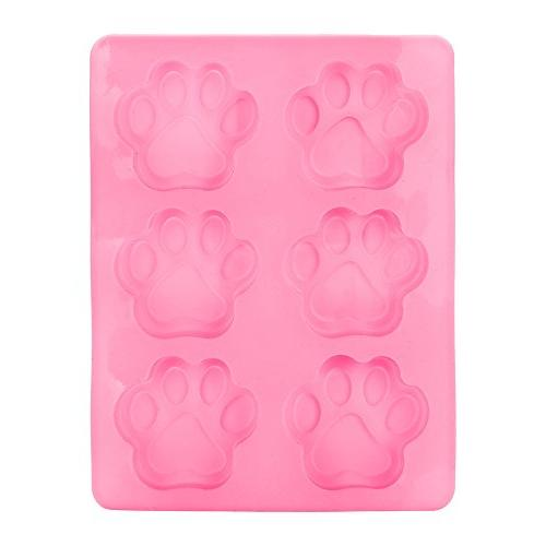 cat paw print silicone cookie