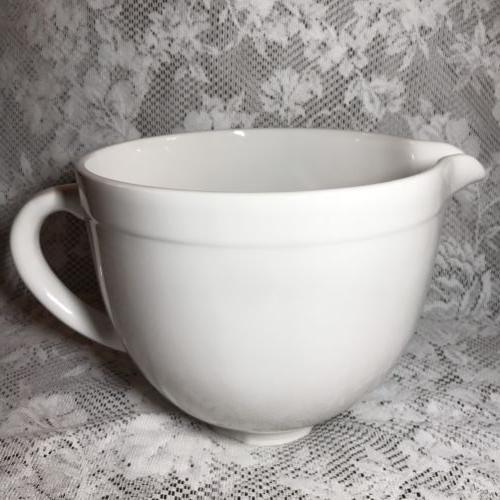 ceramic mixing mixer bowl white chocolate new