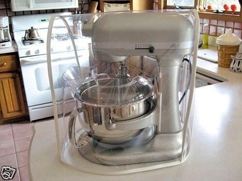 clear mixer cover fits bowl lift white