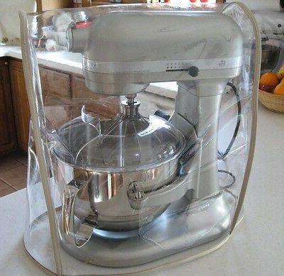 clear mixer cover w tan trim bowl