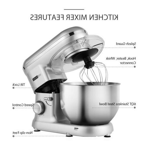VIVOHOME Mixer Tilt-Head Stainless Bowl