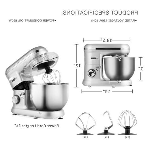 VIVOHOME 6-Speed Mixer Bowl