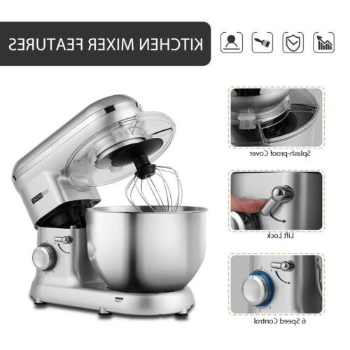 VIVOHOME Stand Mixer Stainless