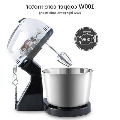 Electric Hand Mixer Speed Steel Cake Mixer Stand Blender 53