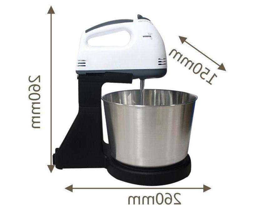 Electric <font><b>Mixer</b></font> &<font><b>Stand</b></font> Handheld Egg Beater Baking 7