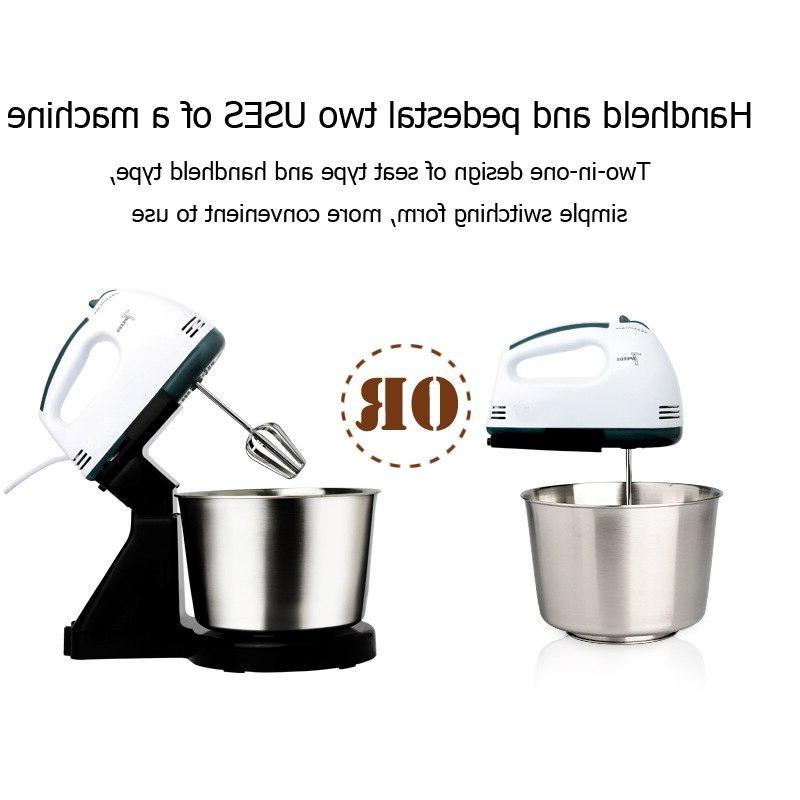 Table Dough <font><b>Mixer</b></font> Egg Blender Baking Cream Machine 7 Speed
