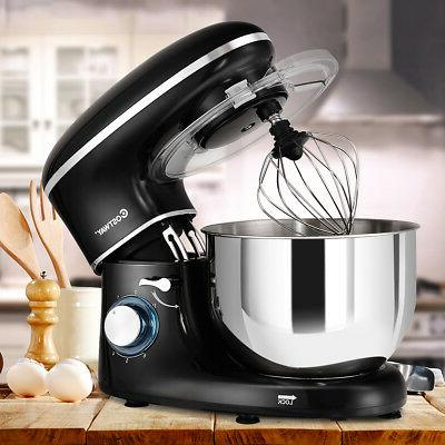 Electric Food Stand Mixer 6 660W Steel Black