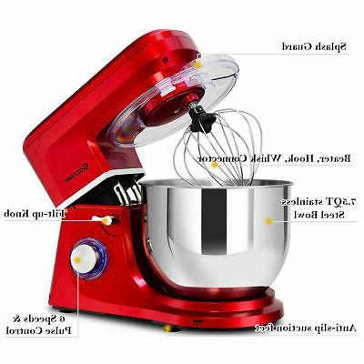 Electric Mixer 6 Speed 660W Tilt-Head New