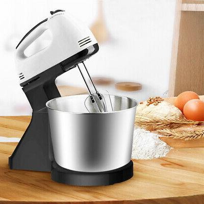 electric hand mixer 7 speed steel bowl