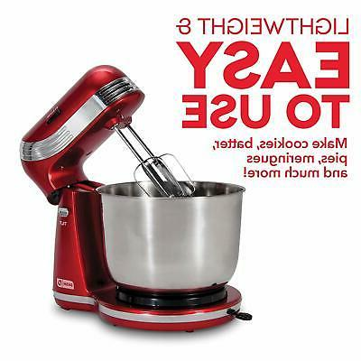ELECTRIC STAND MIXER SPEED KITCHEN TILT HEAD STAINLESS BOWL