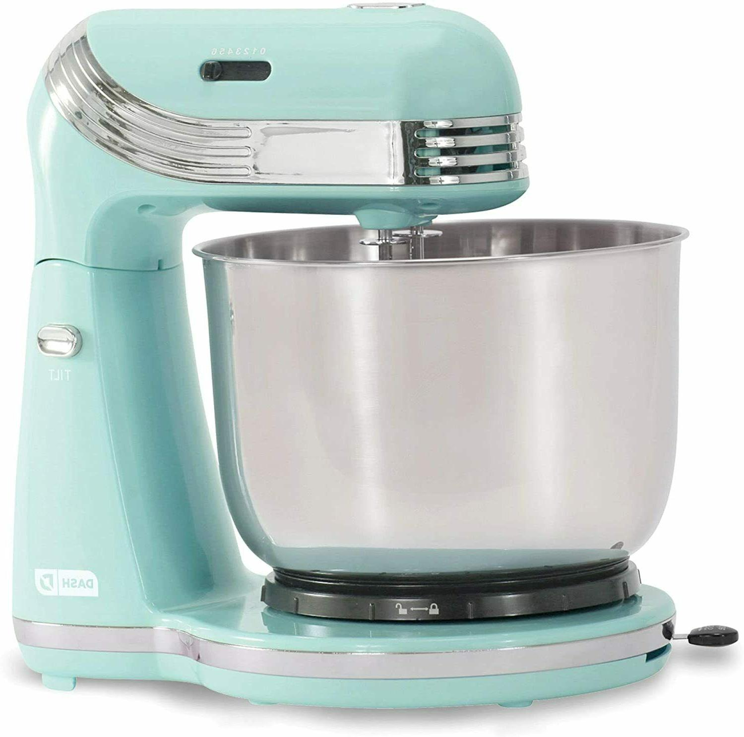 electric stand mixer 6speed with 3qt stainless