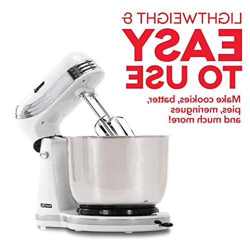 6 Speed Stand Mixer with Hooks Mixer for Frosting, &