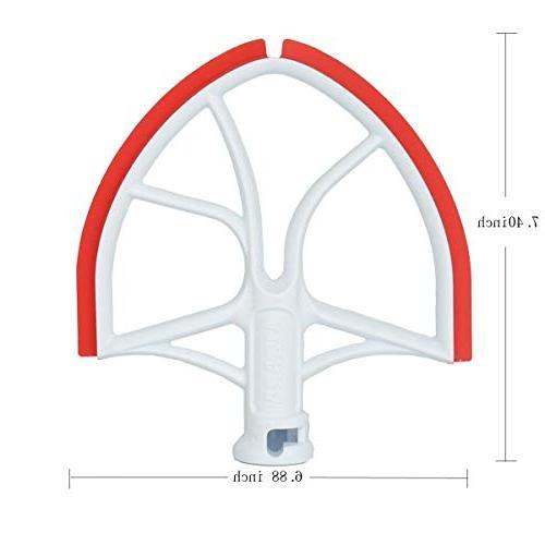 AIZARA Edge Blade for KitchenAid Bowl-Lift Stand Mixer with Silicone Scraper