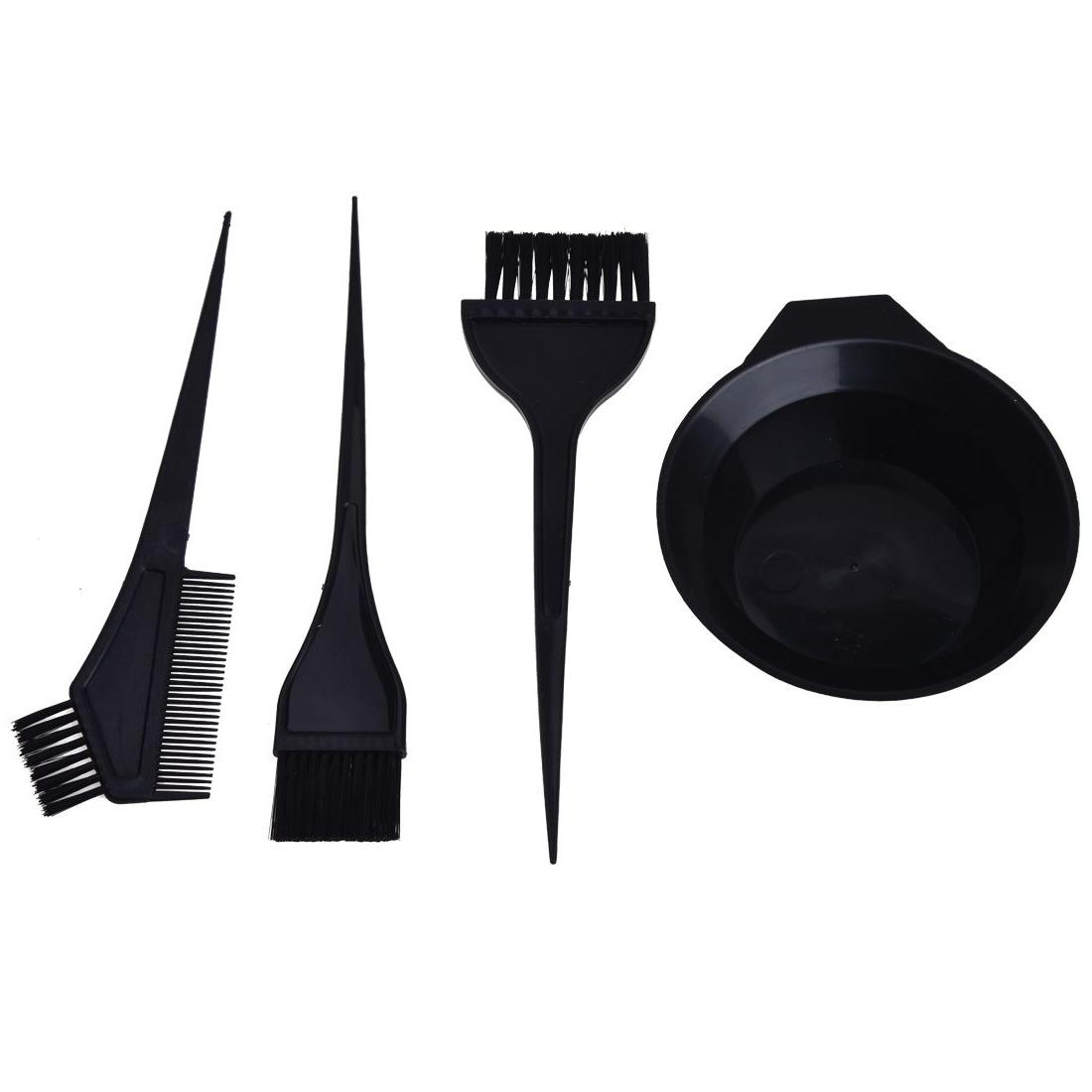 <font><b>Hair</b></font> with 3 brushes Plastic Dye Styling Accessories