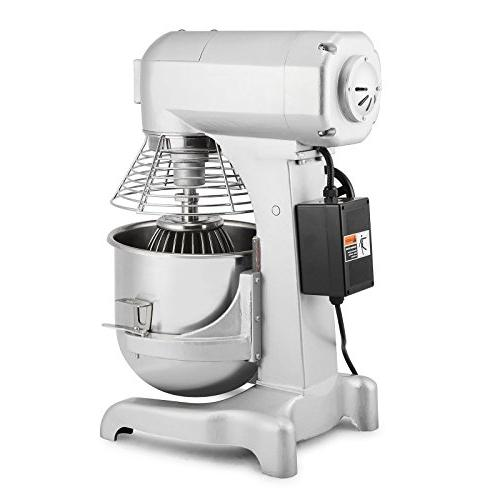 OrangeA Food Mixer Mixer Food Commercial Quart 1HP Dough Silver Food Processor