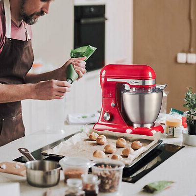 Geek Chef Stainless Steel 4.8 Quart 12 Speed Mixer, Red