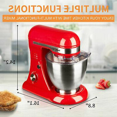 Geek Chef GSM45B Stainless Steel 12 Speed Stand Mixer,
