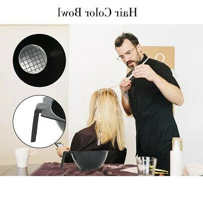 Hair Color Kit Dyeing Tint Brush Bowl Clips
