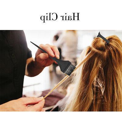 Hair Color Dye Kit Coloring Salon Tint Brush Comb Clips