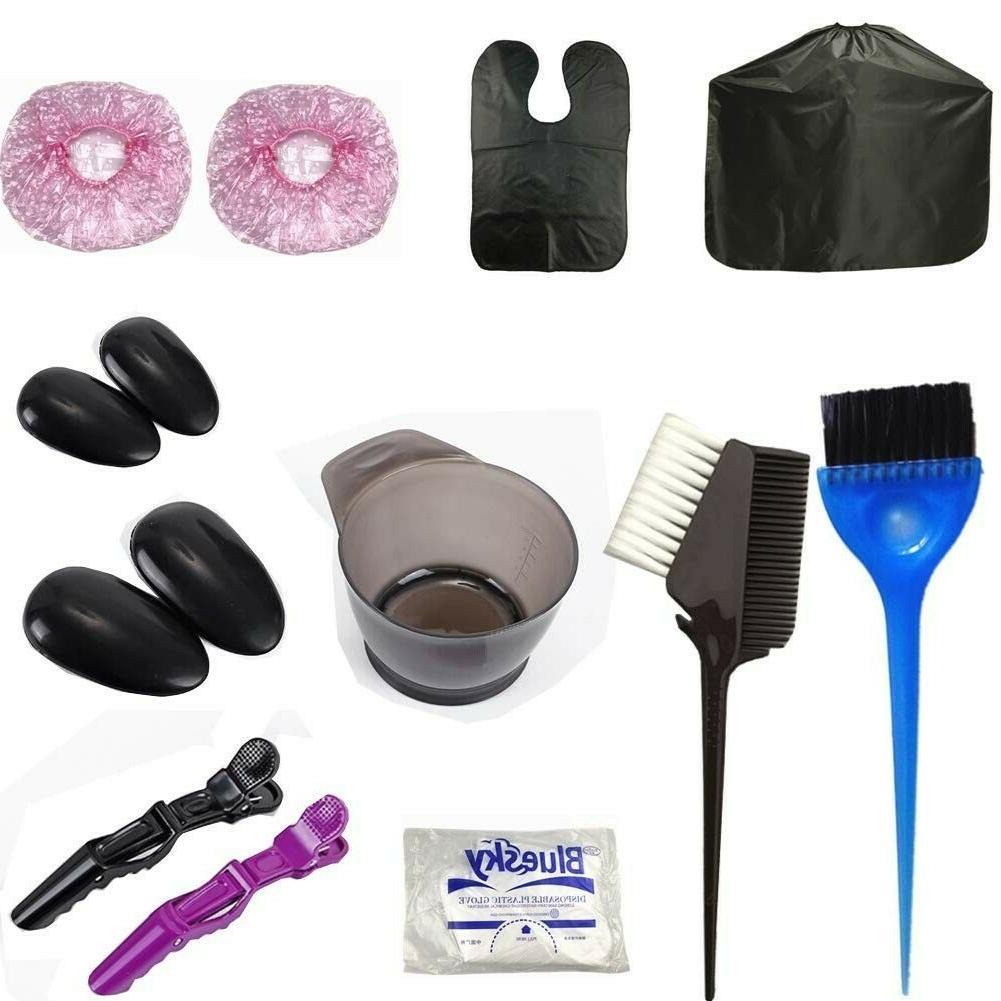 hair coloring dyeing brush bowl mixing kit