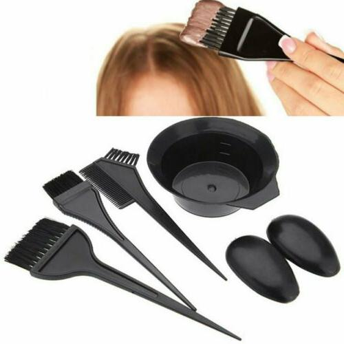 Hair Coloring Dyeing Kit Salon Color Comb Mixing Bowl Tool Bleach