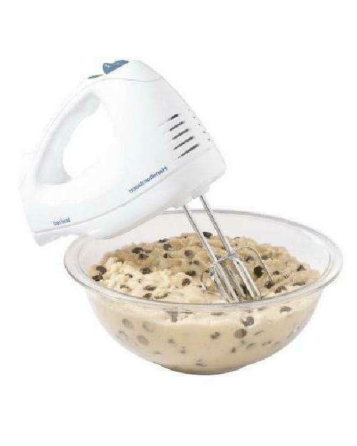 Hamilton Beach Hand Mixer and whisk with SnapOn Case and bow