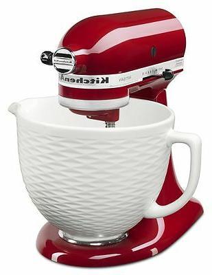 Kitchen Aid 5Qt Ceramic Bowl - White Chocolate