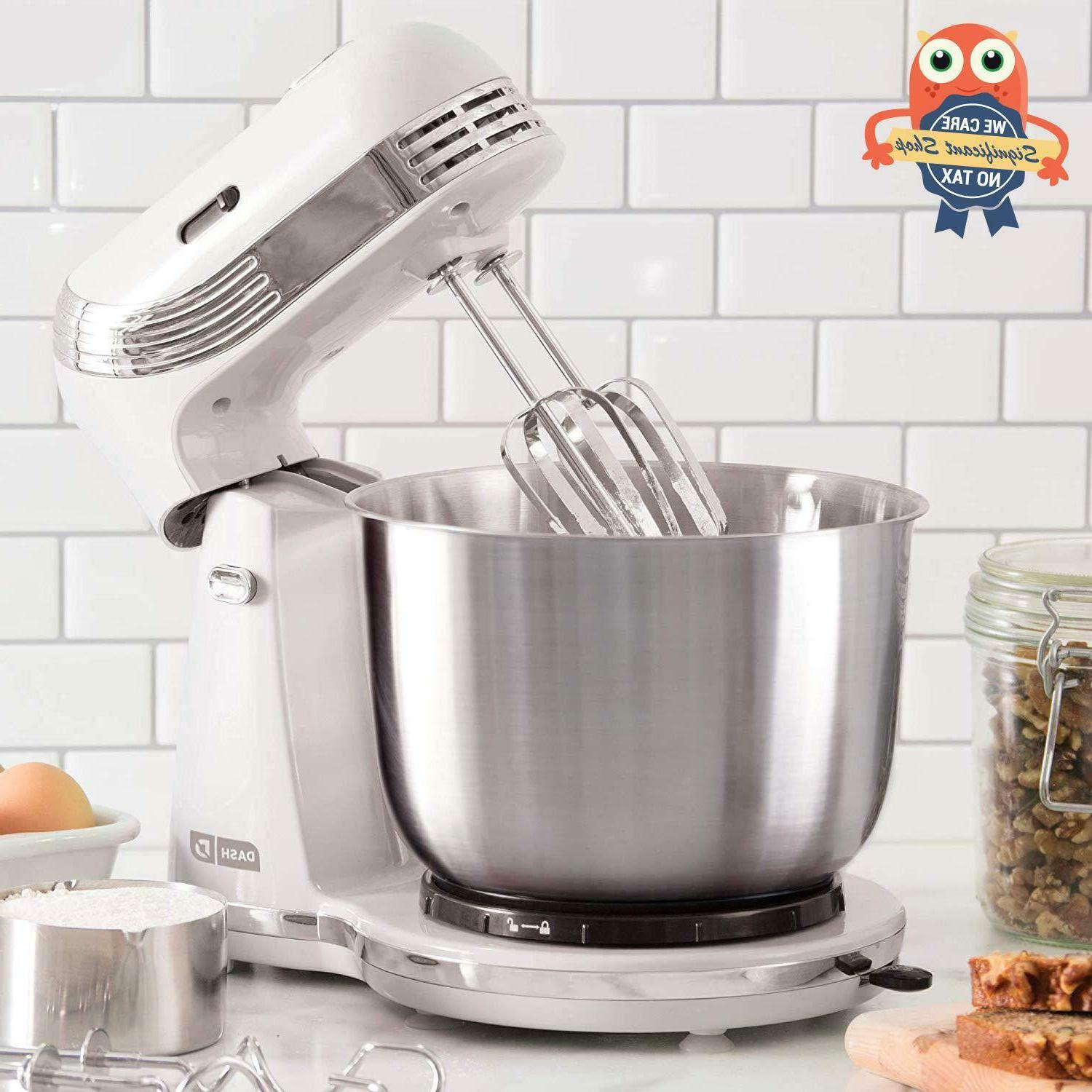 Kitchen Electric White Stand Mixer Hand Bread Dough 6 Speed
