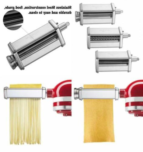 3-Piece Pasta Roller and Cutter Set fit KitchenAid