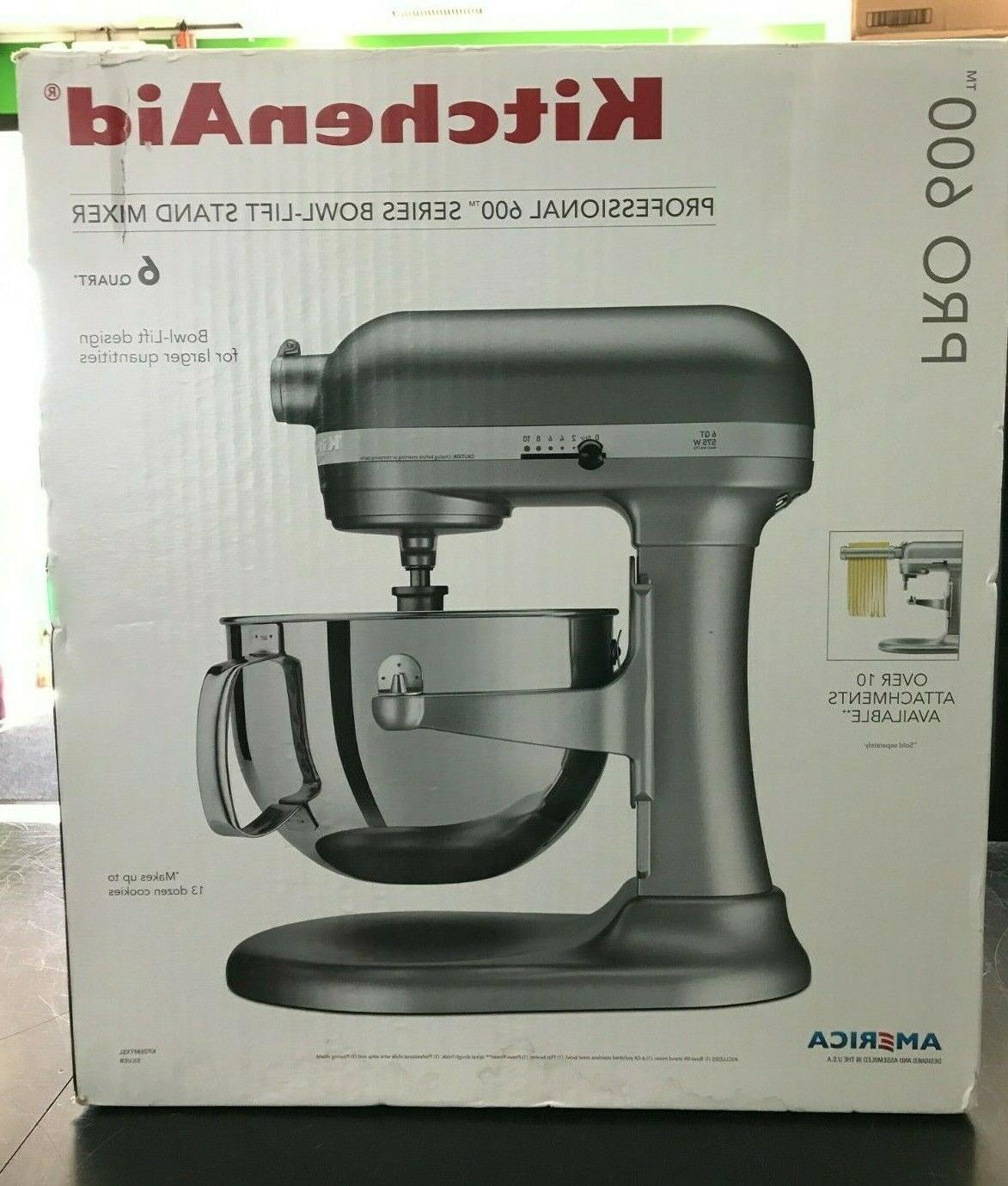 kp26m1xsl 6 quart stand mixer professional 600