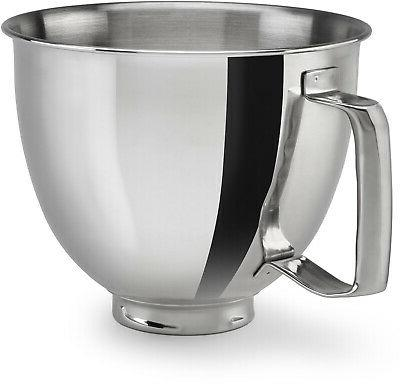 ksm35ssfp polished stainless steel bowl with handle