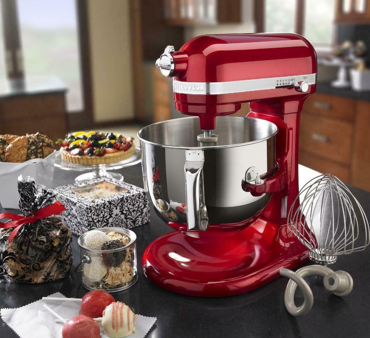 KitchenAid KSM7586PCA 7 Bowl-Lift Mixer, Red