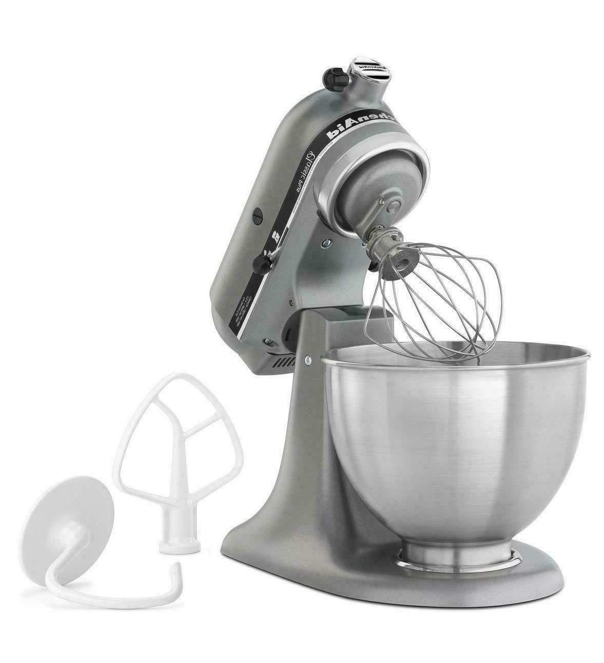 KitchenAid KSM75SL Plus 4.5-Qt. Mixer, Silver