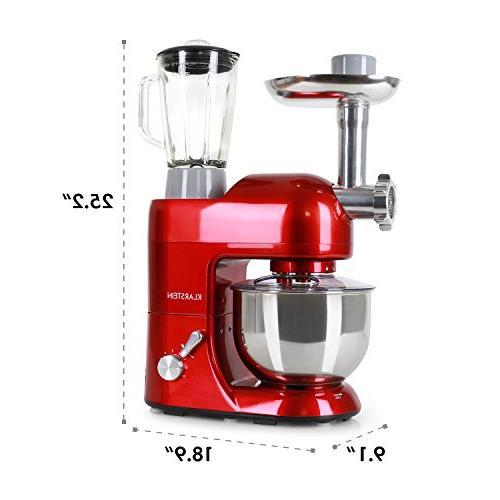 KLARSTEIN Rossa Machine • Stand • 5.3 • 1.3 qt Glass • Meat • Maker Blender •
