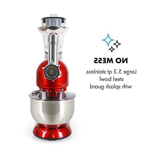KLARSTEIN Rossa Machine Mixer • • 5.3 • 1.3 qt Glass • Meat • Blender •