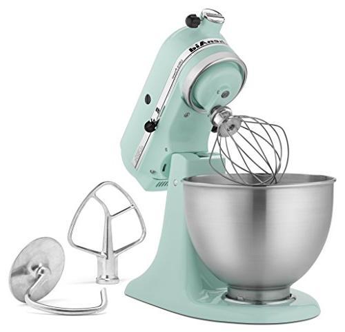 mixer 4 5qt ice blue