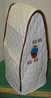 KitchenAid Mixer Appliance Cover~White Quilted~Cookie Monste