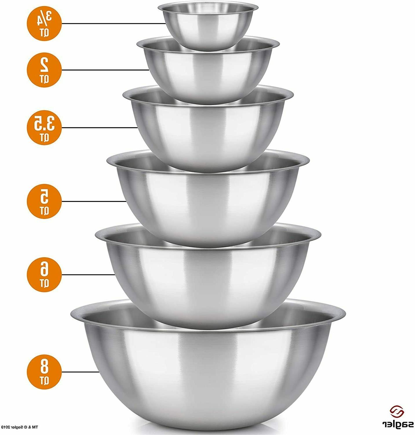 mixing bowls - mixing bowl Set of 6 - stainless steel mixing