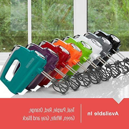 BLACK+DECKER Helix Performance Premium 5-Speed Hand Mixer, 5 Black
