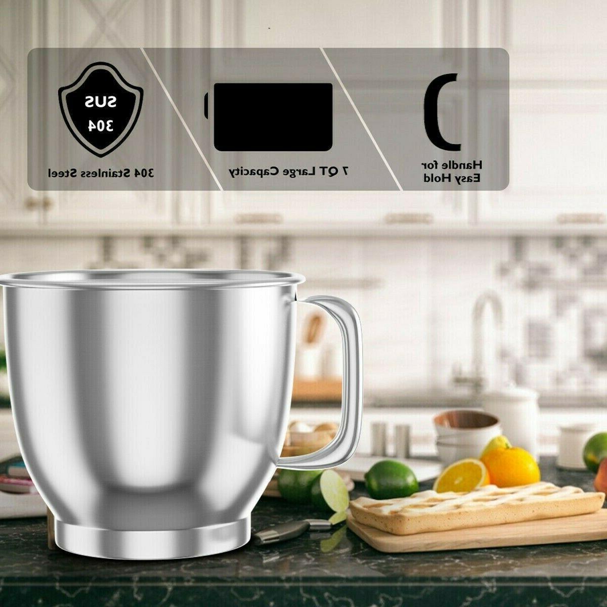 New Kitchen Food Mixer Machine 6 Speed Tilt Dough Grinder