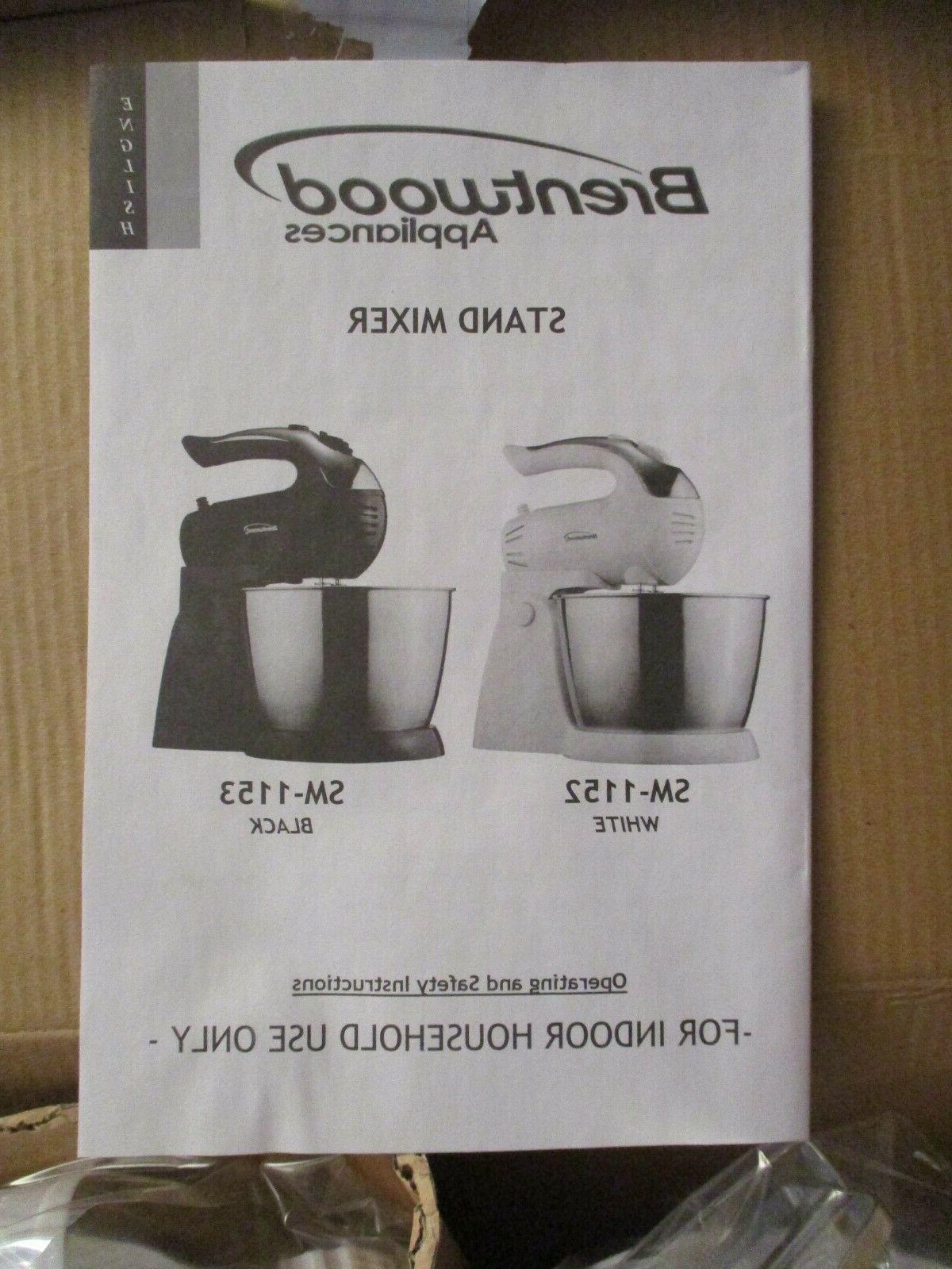 NEW Brentwood Stand Mixer White