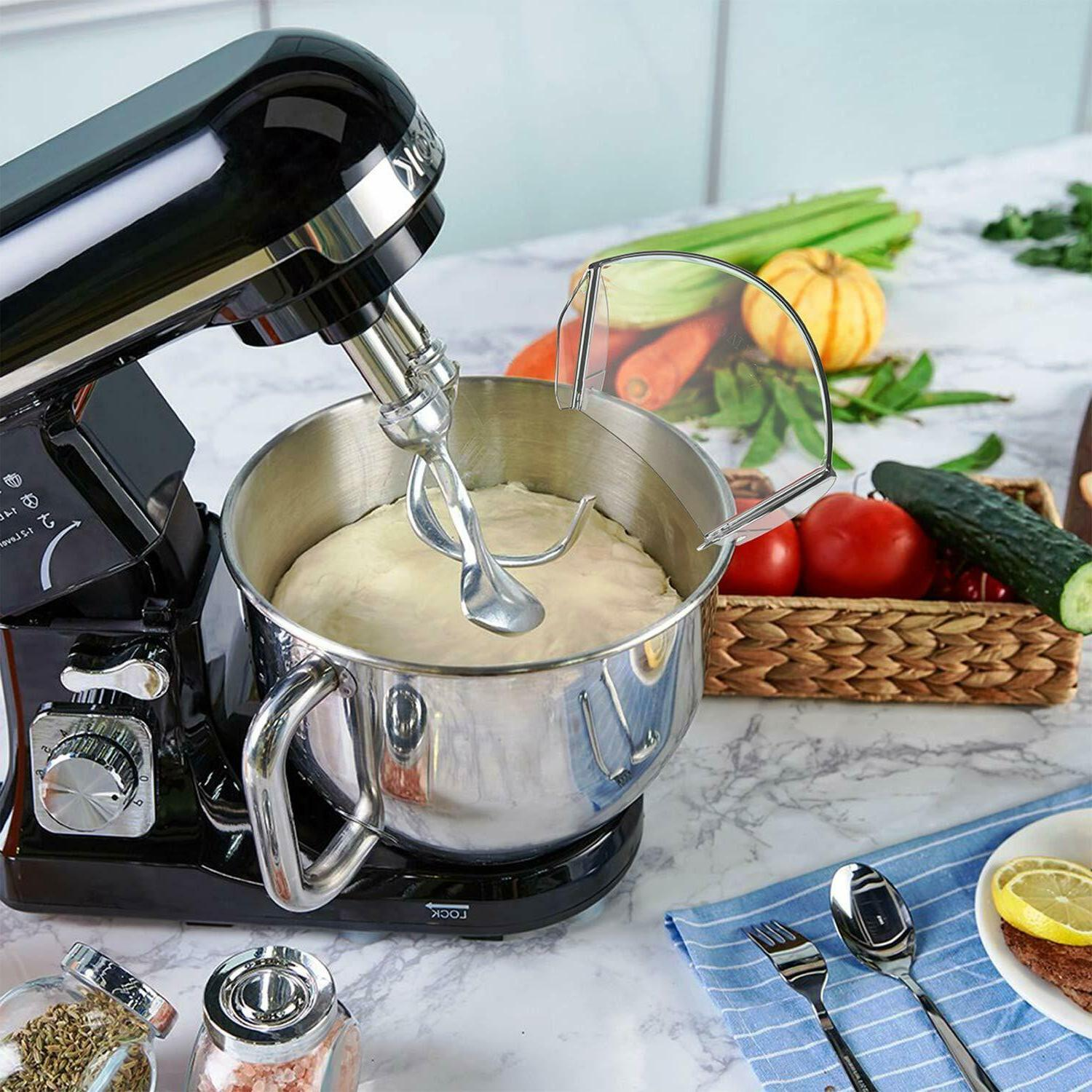 Pouring Shield Stand Mixer Bowls, Pouring
