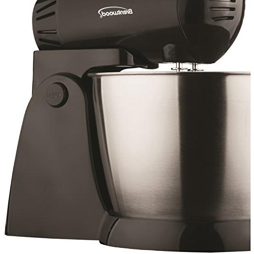Brentwood SM-1153 Stand Mixer with Steel Bowl, 12.00In. 8.40In. X 8.00In.