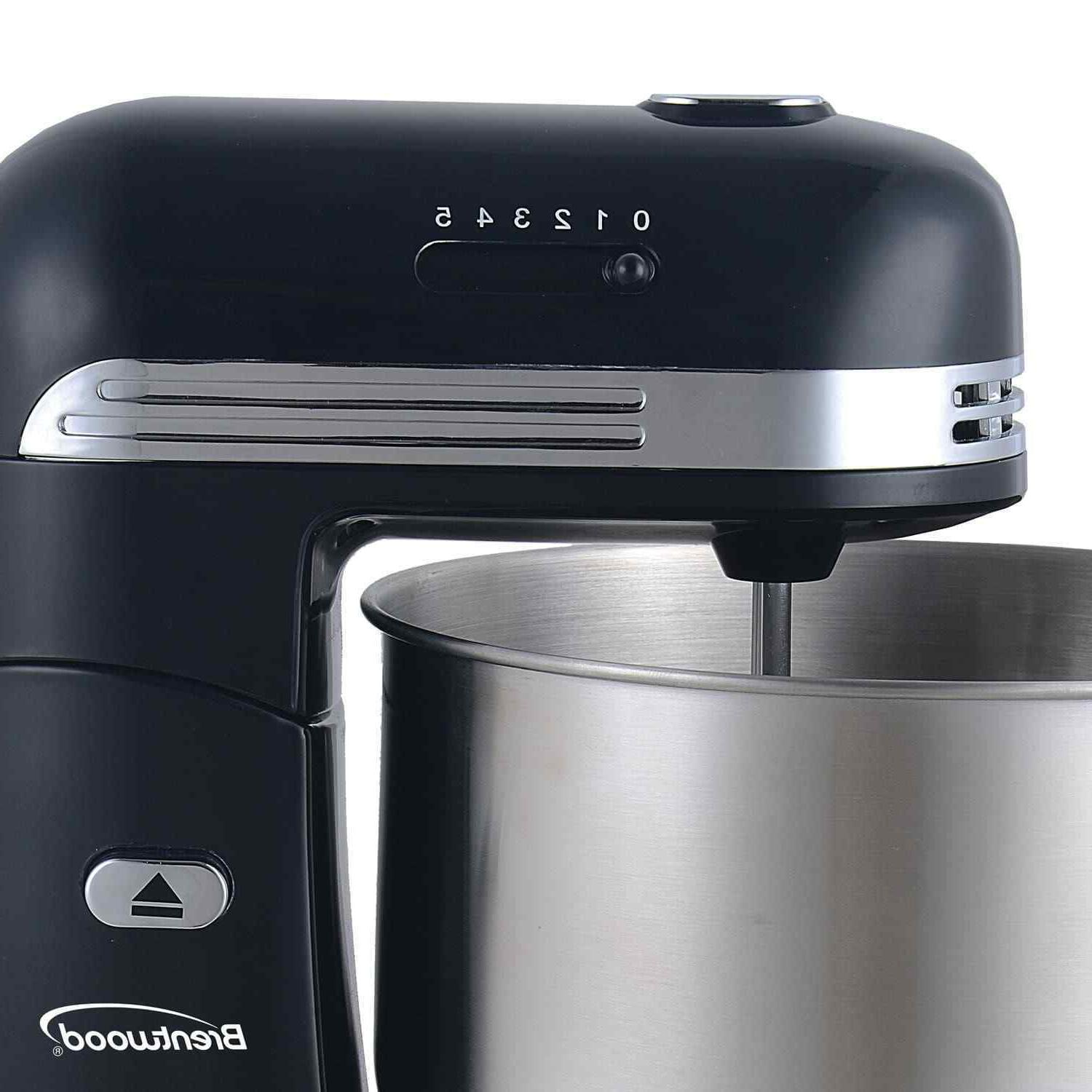 Brentwood 5-Speed Mixer with 3 Stainless