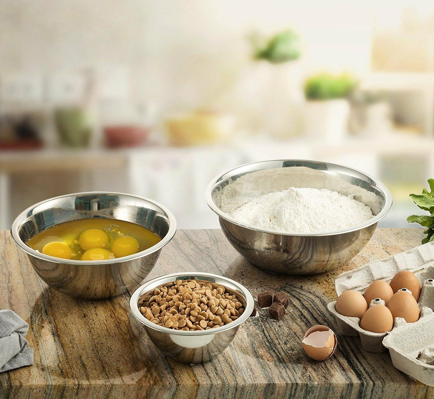 Stainless Steel Mixing Bowls Polished