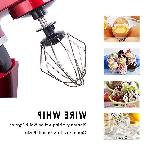 Betitay Stand Mixer,6-Speed Kitchen Guard,4.5 Glass Beater,Whisk,Dough and