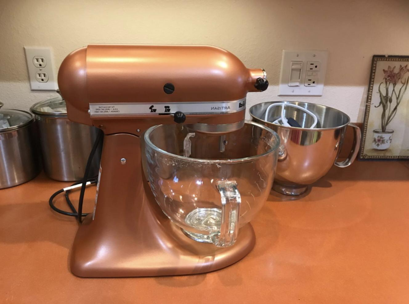 KitchenAid Stand 5 quart Glass Measurement Markings