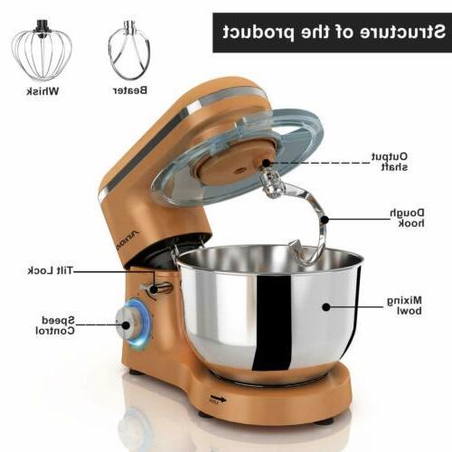 Stand Mixer Hook 6-Speed Kitchen Mixer Gold