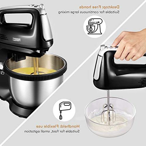 Stand Removable in Hand with Stainless Steel Mixer and Dough 250Watt,